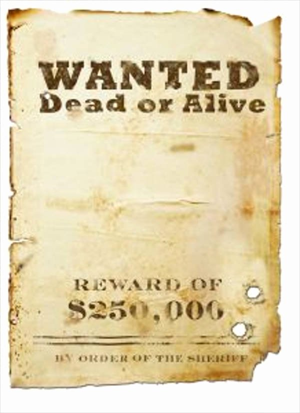 Wanted Poster Template Free Printable Best Of 18 Wanted Poster Design Templates In Psd