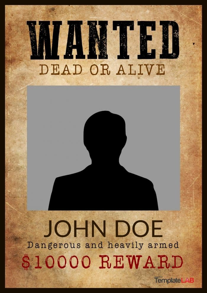 Wanted Poster Template Free Printable Best Of 29 Free Wanted Poster Templates Fbi and Old West