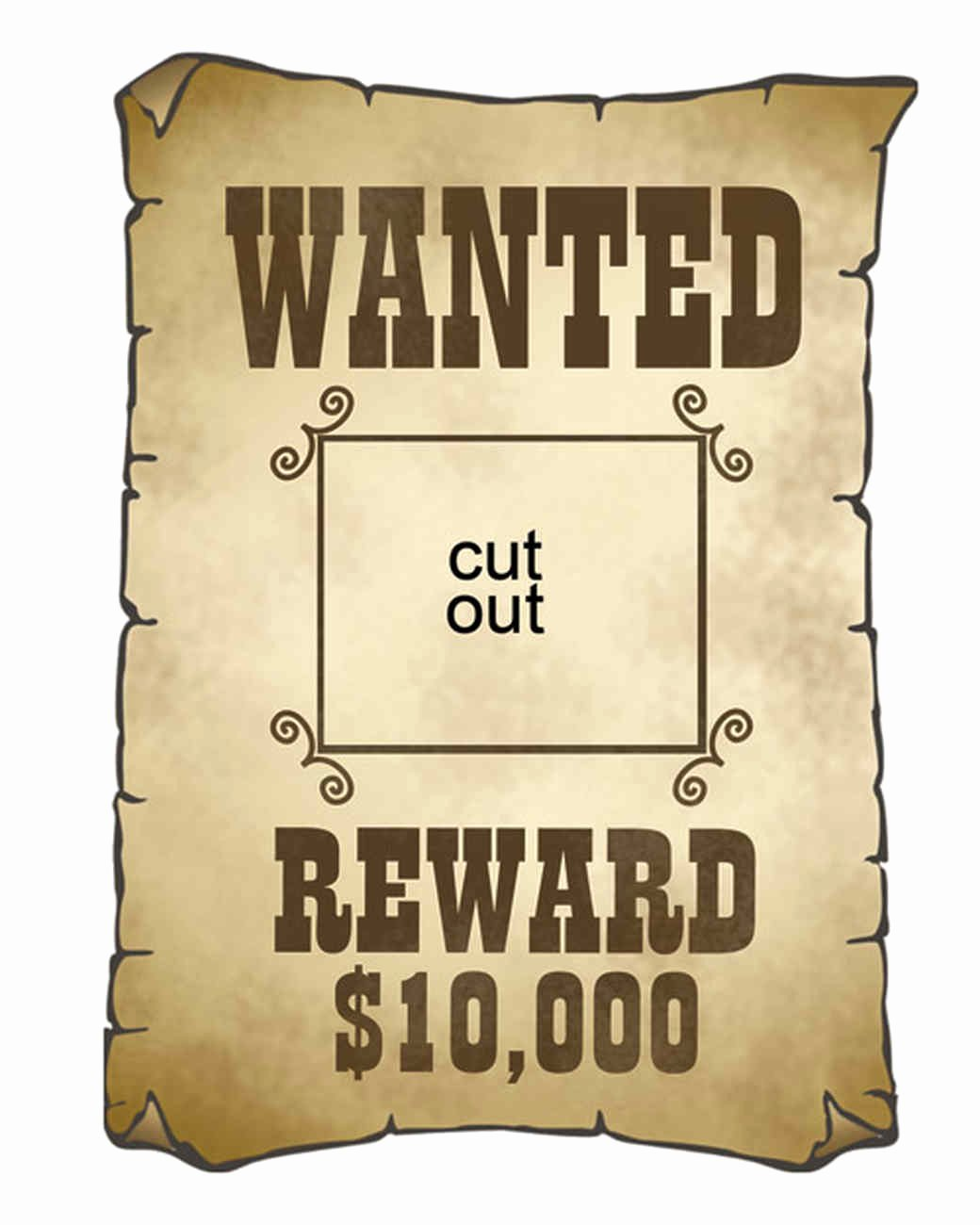 Wanted Poster Template Free Printable Fresh Cowboy Cutouts
