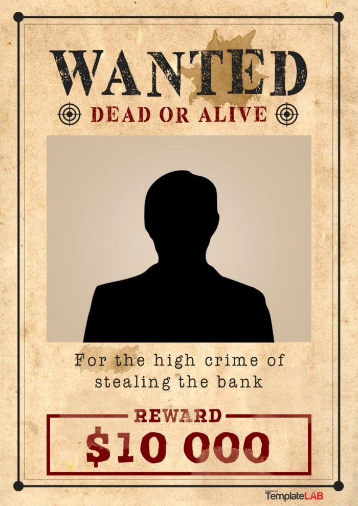 Wanted Poster Template Free Printable Inspirational 29 Free Wanted Poster Templates Fbi and Old West
