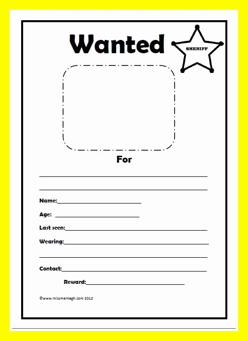 Wanted Poster Template Free Printable Inspirational Wanted Poster Template