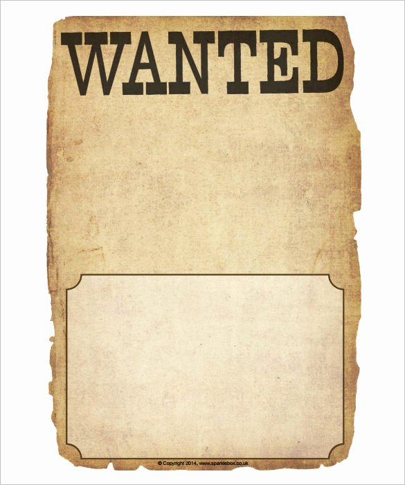 Wanted Poster Template Free Printable Unique Wanted Poster Template 34 Free Printable Word Psd