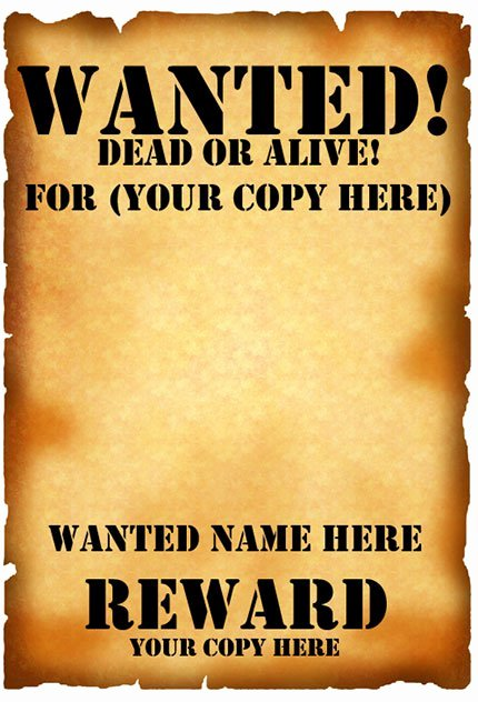 Wanted Poster Template Microsoft Word Awesome 29 Free Wanted Poster Templates Fbi and Old West