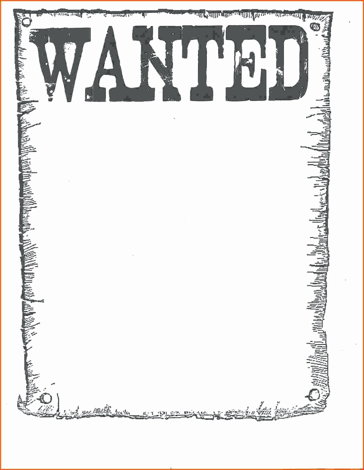 Wanted Poster Template Microsoft Word Best Of Word Wanted Poster Template