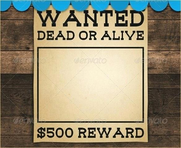 Wanted Poster Template Microsoft Word Fresh Template for Wanted Poster Invitations Free Printable