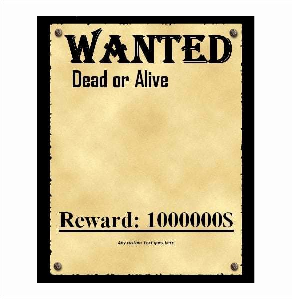 Wanted Poster Template Microsoft Word Inspirational 4 Free Wanted Poster Templates Excel Pdf formats