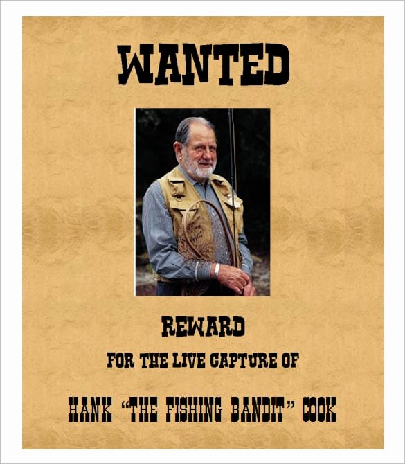 Wanted Poster Template Microsoft Word Lovely 4 Free Wanted Poster Templates Excel Pdf formats