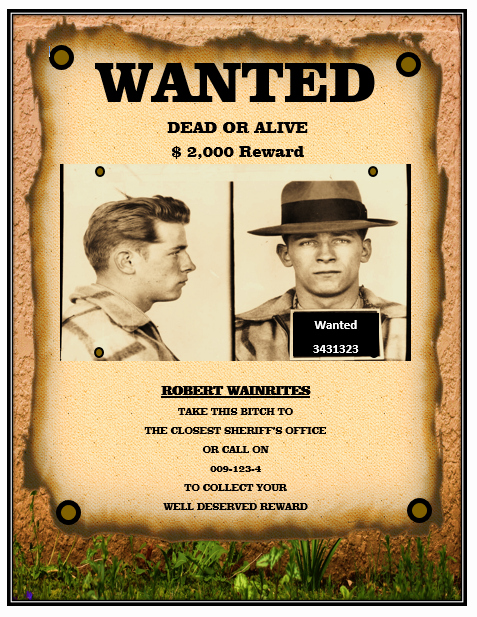 Wanted Poster Template Microsoft Word Luxury 13 Free Wanted Poster Templates Printable Docs