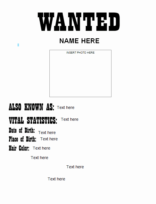 Wanted Poster Template Microsoft Word New 18 Free Wanted Poster Templates Fbi and Old West Free