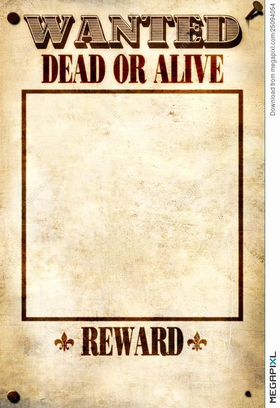 Wanted Poster Template Microsoft Word Unique Wild West Wanted Poster Template Dead Alive Free Word