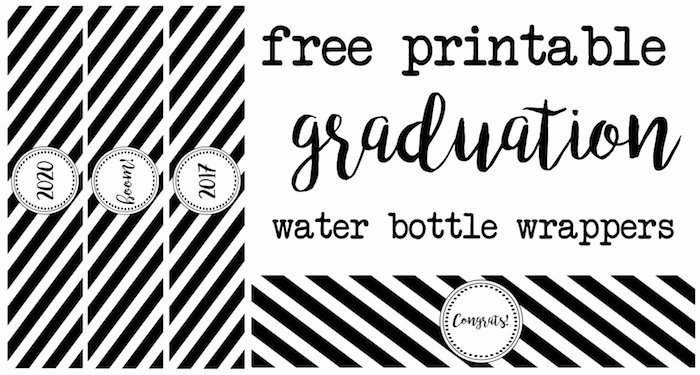 Water Bottle Template Printable Awesome Graduation Water Bottle Wrappers Paper Trail Design