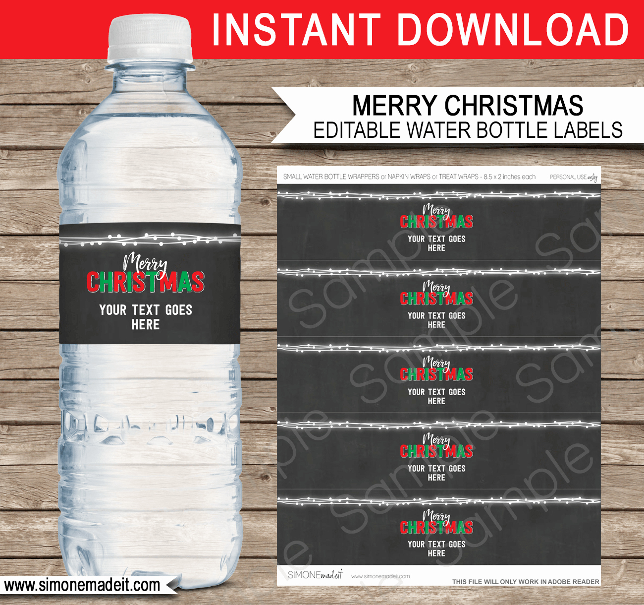 Water Bottle Template Printable Beautiful Printable Christmas Gift Tags Invitations & Decorations