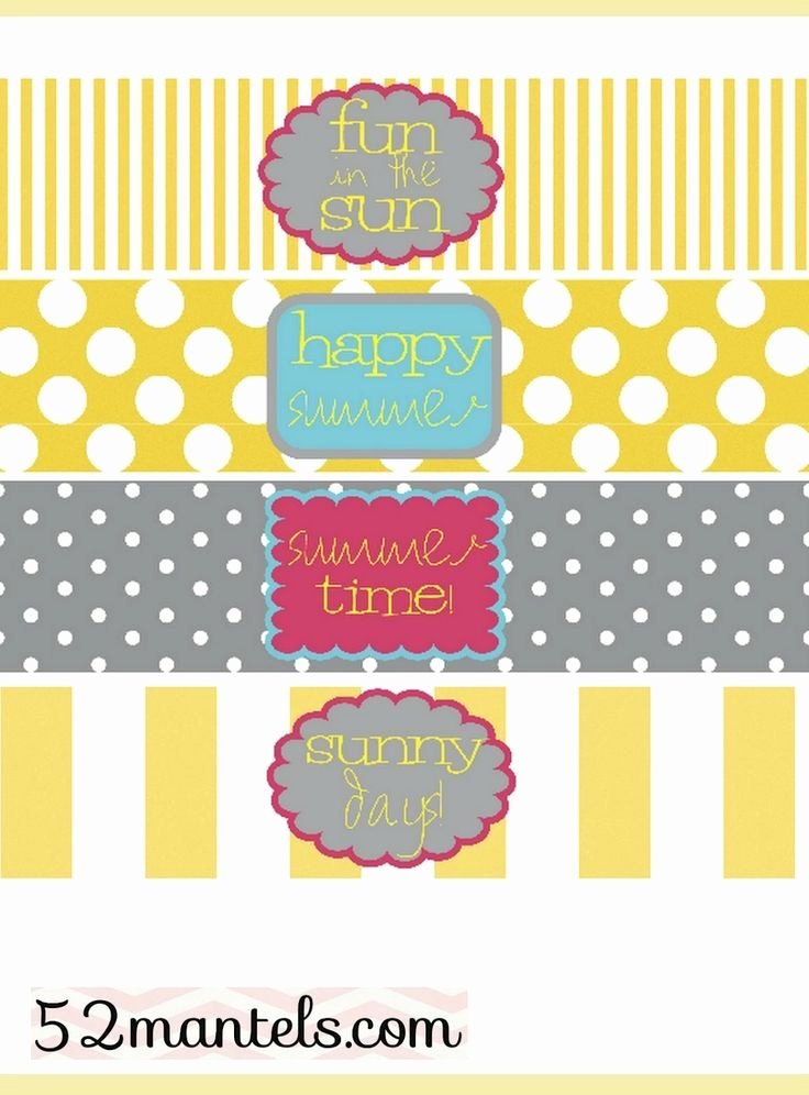 Water Bottle Template Printable Elegant Free Water Bottle Labels for A Summer Party