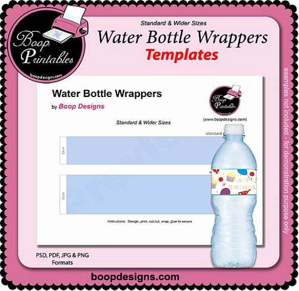 Water Bottle Template Printable Fresh 21 Water Bottle Template Psd format Download