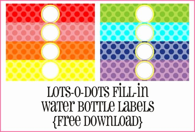 Water Bottle Template Printable Inspirational 9 Sets Free Printable Water Bottle Labels within Free