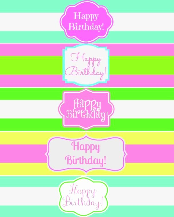 Water Bottle Template Printable Lovely Free Printable Happy Birthday Water Bottle Label Wraps