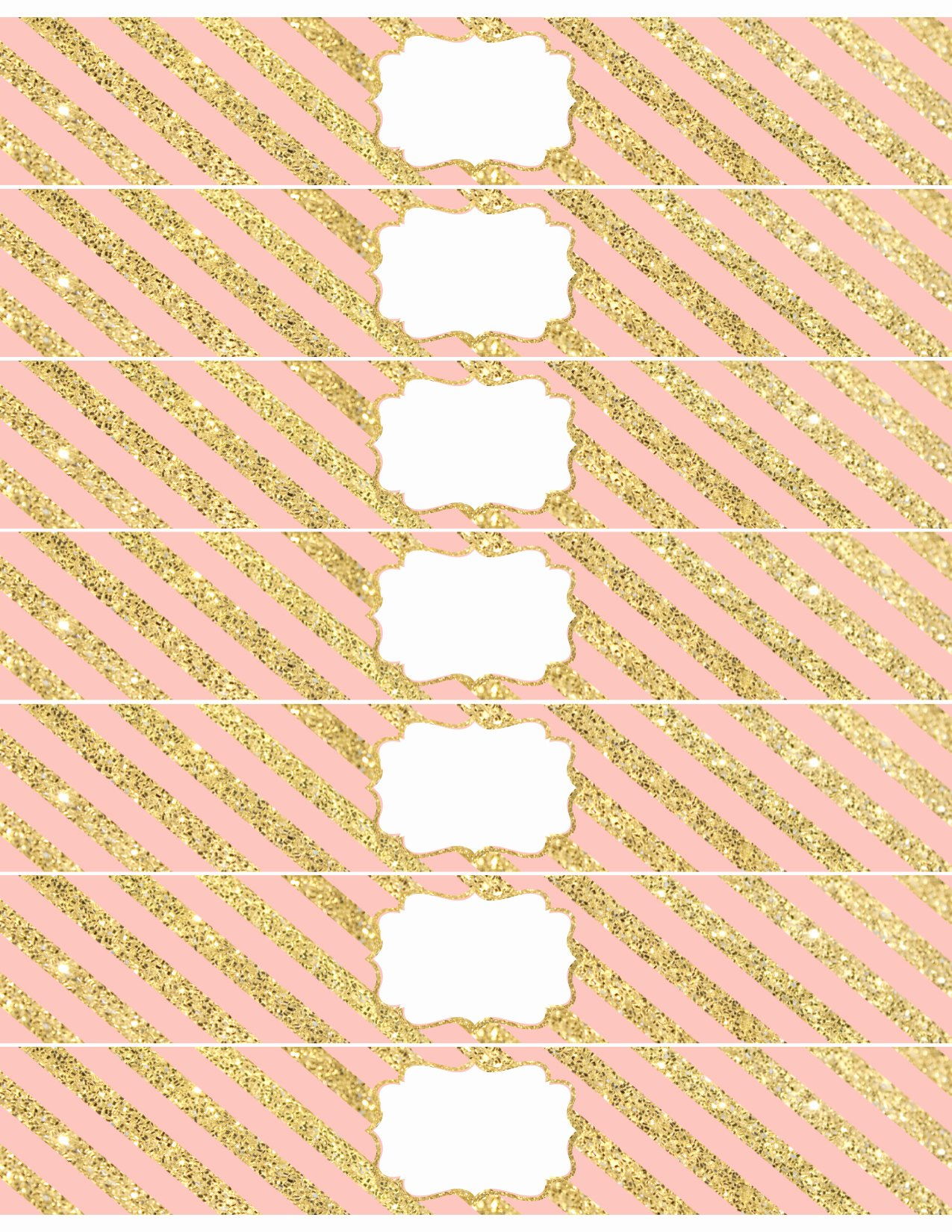 Water Bottle Template Printable Lovely Pink and Gold Water Bottle Wrappers Free Printable Paper