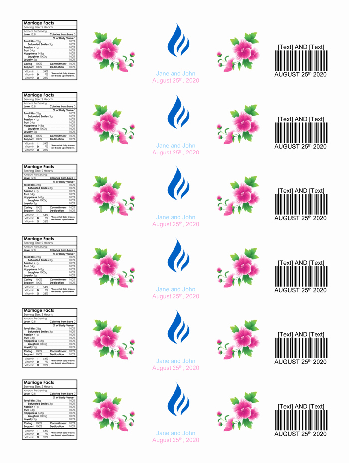 Water Bottle Template Printable Lovely Water Bottle Label Template Make Personalized Bottle Labels