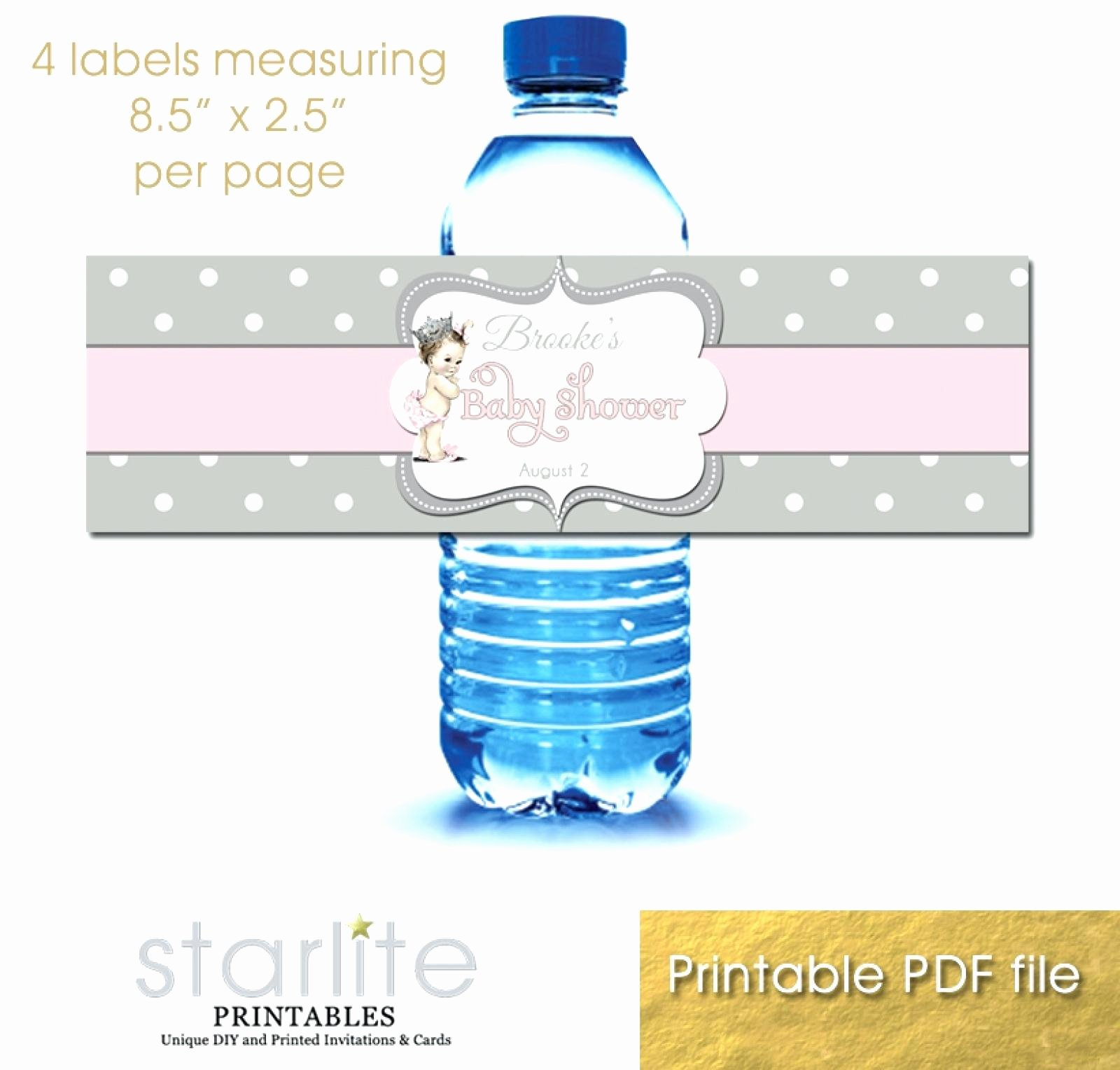 Water Bottle Template Printable Lovely Water Bottle Label Template Word