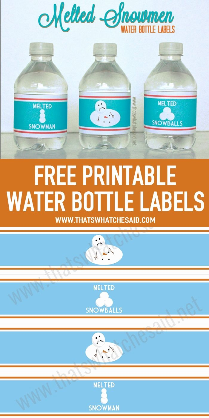 Water Bottle Template Printable New 25 Best Ideas About Melted Snowman On Pinterest