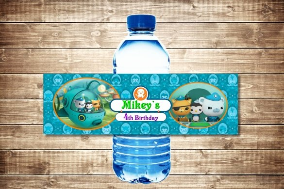 Water Bottle Template Printable Unique 24 Sample Water Bottle Label Templates to Download