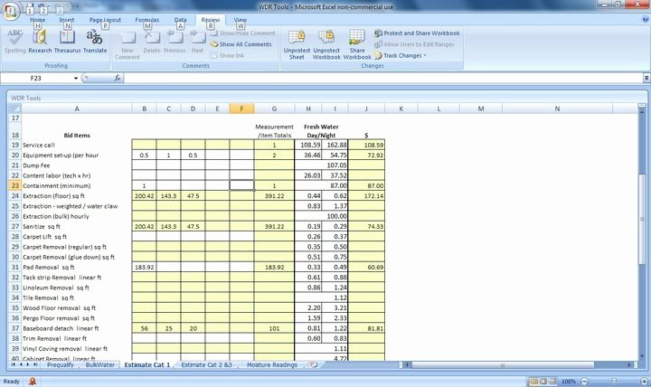 Water Damage Estimate Template Best Of Water Damage Invoice