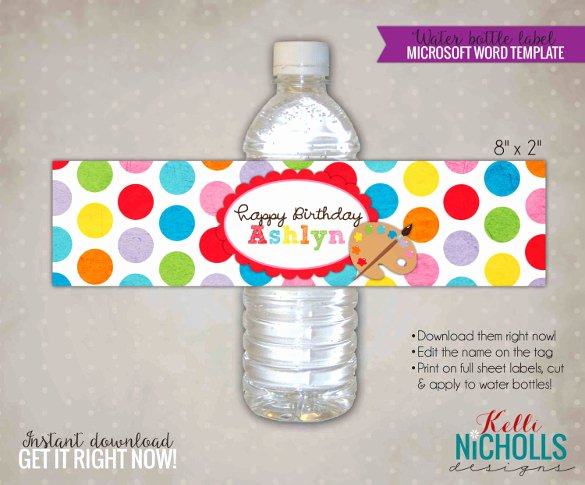 Water Labels Template Free Elegant Water Bottle Label Template – 29 Free Psd Eps Ai