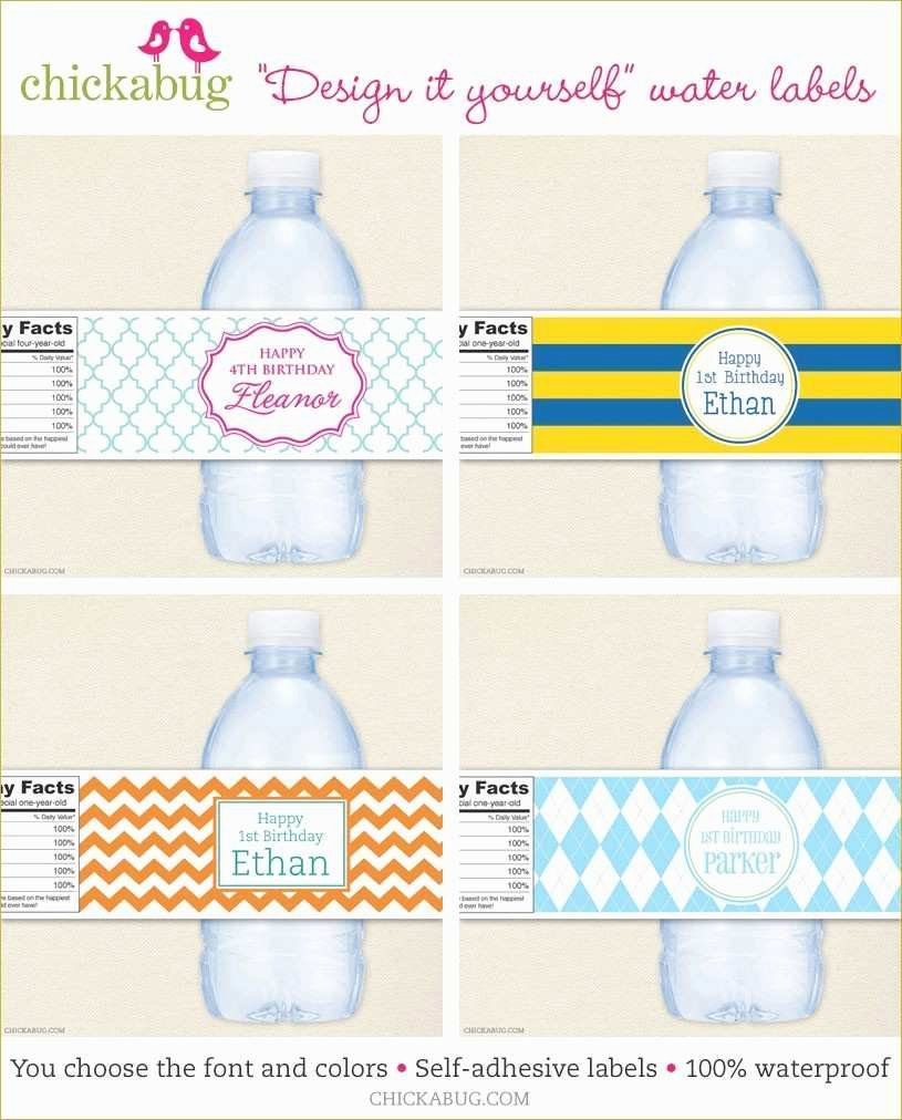 Water Labels Template Free Unique Awesome Diy Water Bottle Label Template Baby Shower