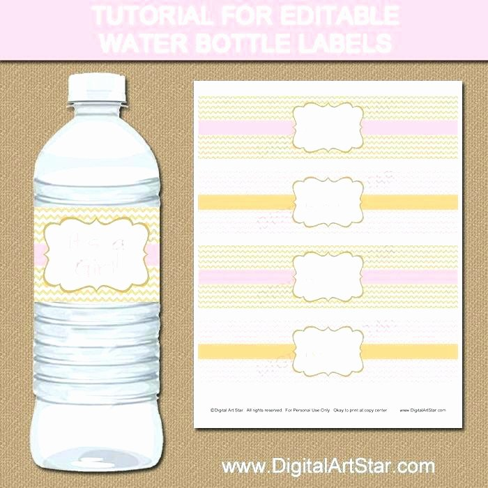 Water Labels Template Free Unique Tutorial for Pink Gold Editable Water Bottle Label