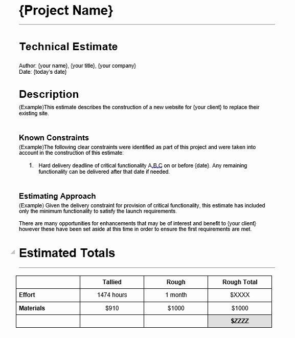 Web Design Estimate Template New 7 Free Sample Web Design Estimate Evaluation form