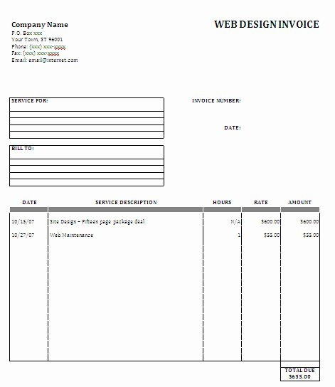 Web Design Invoice Template Awesome Web Design Proposal Sample Image Search Results Picture to