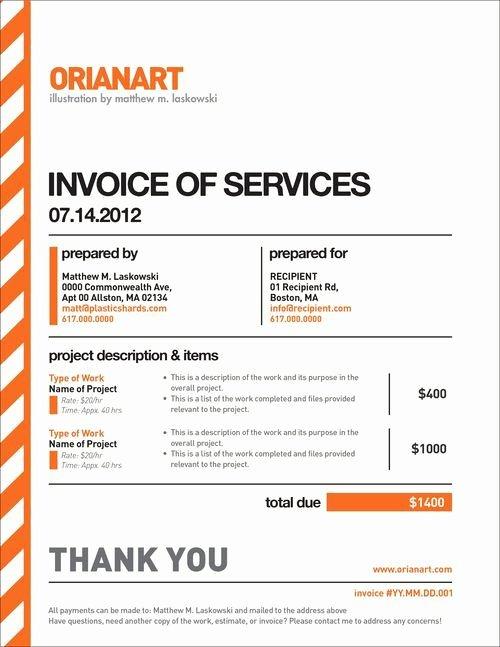 Web Design Invoice Template Beautiful 10 Creative Invoice Template Designs Design