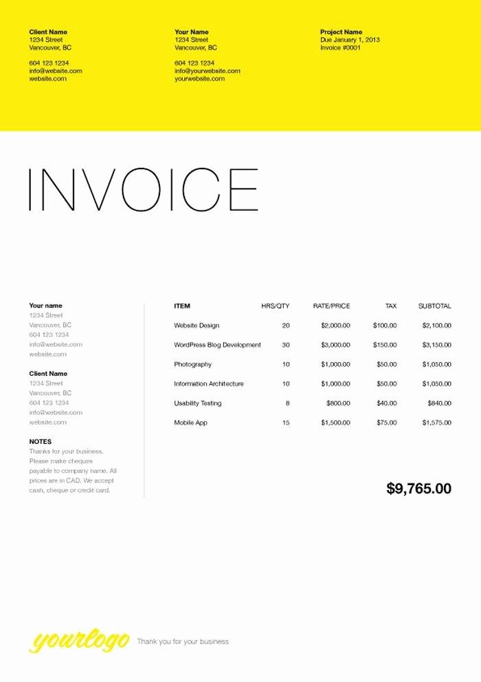 Web Design Invoice Template Best Of 76 Best Web Design Quotation Images On Pinterest
