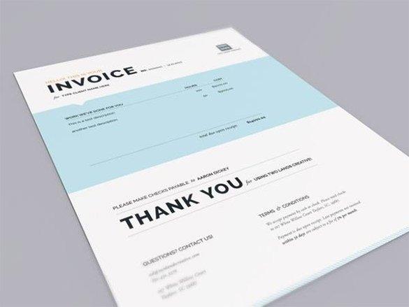 designing invoice