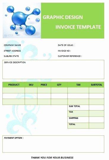 Web Design Invoice Template Fresh 26 Professional Graphic Design Invoice Templates Demplates
