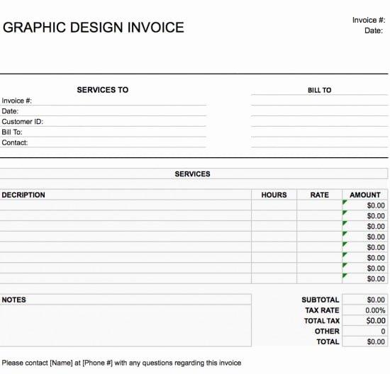 Web Design Invoice Template Fresh Free Graphic Design Web Invoice Template Excel