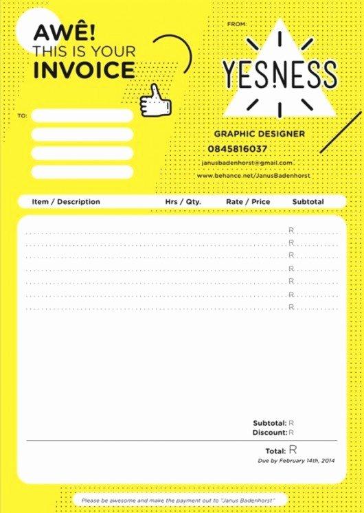 Web Design Invoice Template Fresh Invoice Ideas