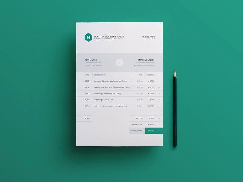 Web Design Invoice Template Inspirational 10 Free Invoice Templates for Creatives 1stwebdesigner