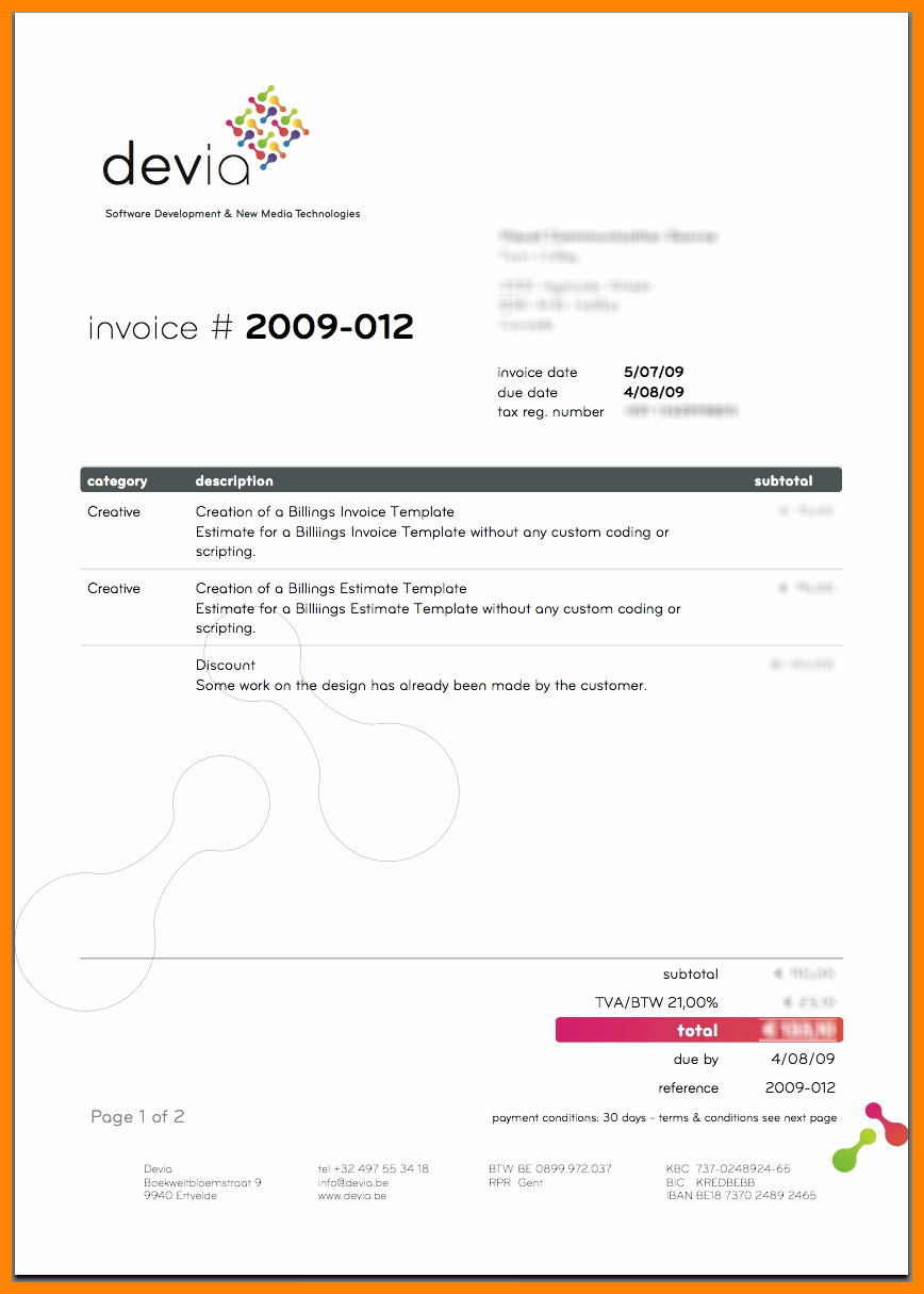 Web Design Invoice Template Inspirational 5 Graphic Designer Invoice Template