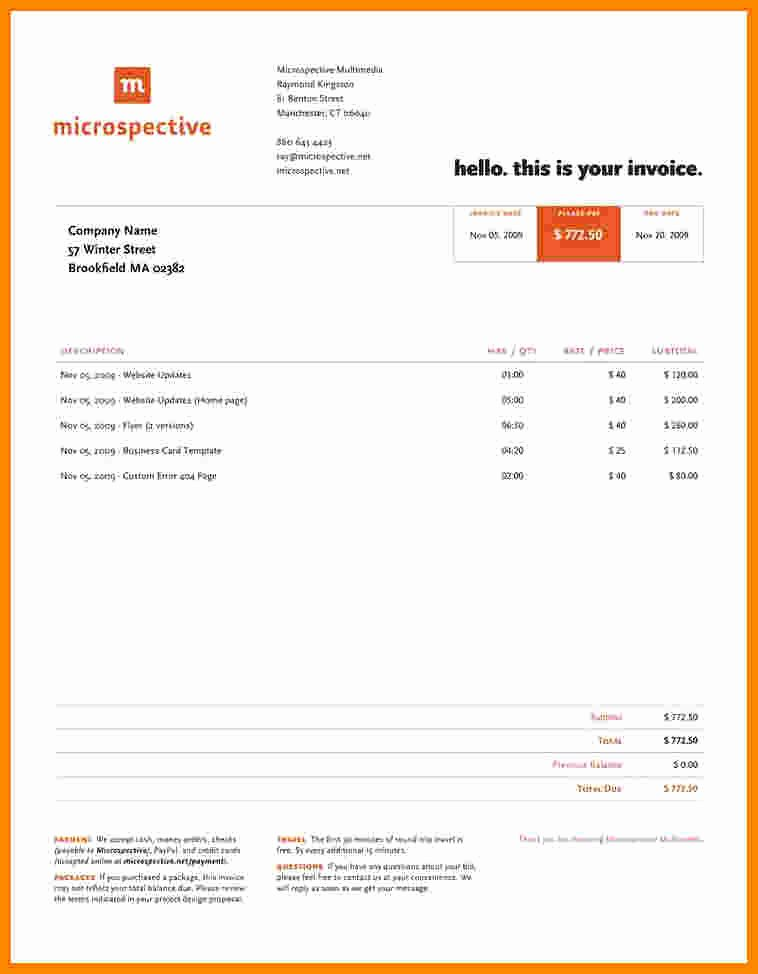 Web Design Invoice Template Lovely 5 Graphic Designer Invoice Template