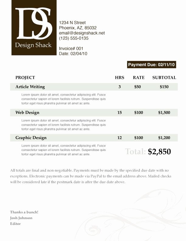 Web Design Invoice Template Luxury 29 Best Images About Graphic