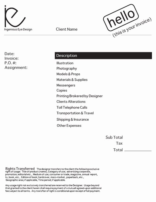 Web Design Invoice Template New Design An Invoice that Practically Pays Itself — Sitepoint