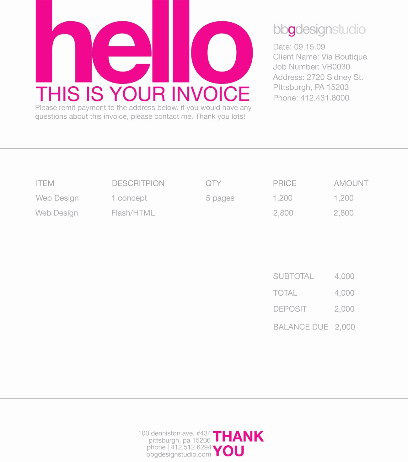 Web Design Invoice Template New Invoice Like A Pro Design Examples and Best Practices