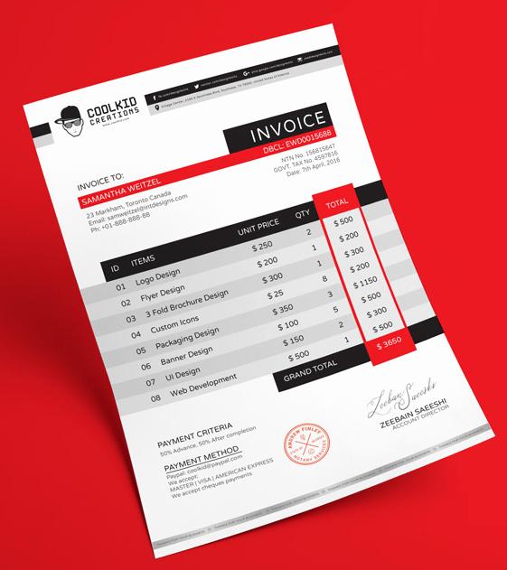Web Design Invoice Template Unique 15 Best Free Invoice Templates for Graphic Designers 2018