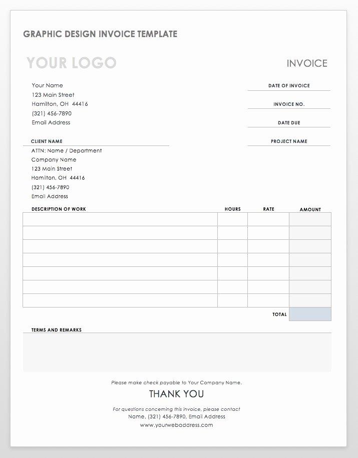Web Design Invoice Template Unique 55 Free Invoice Templates