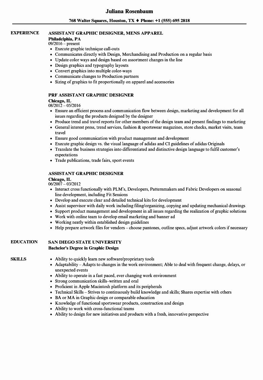 graphic design job description resume