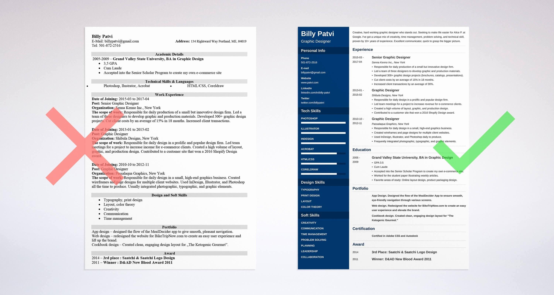 Web Designer Resume Template Best Of Graphic Design Resume Sample & Guide [ 20 Examples]