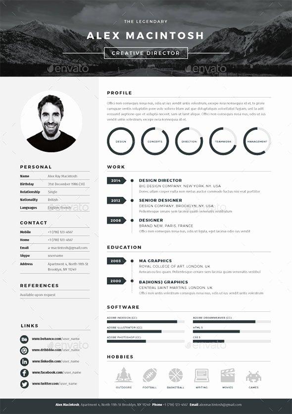 Web Designer Resume Template Elegant 20 Best Resume Templates Web & Graphic Design