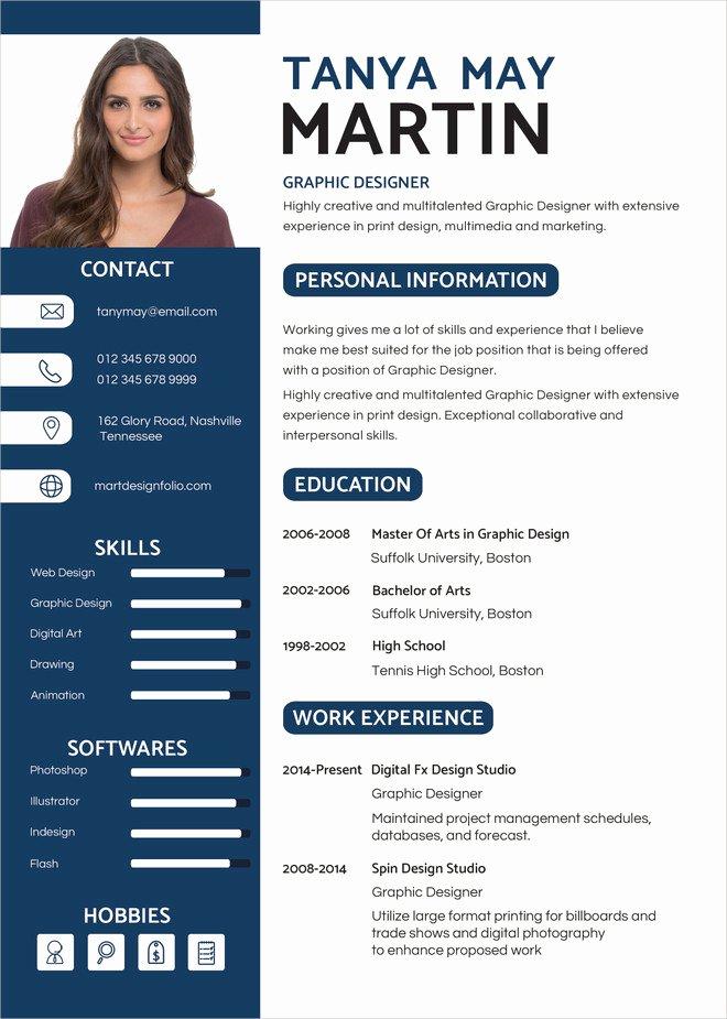 Web Designer Resume Template Elegant Graphic Designer Resume Template 11 Free Word Pdf