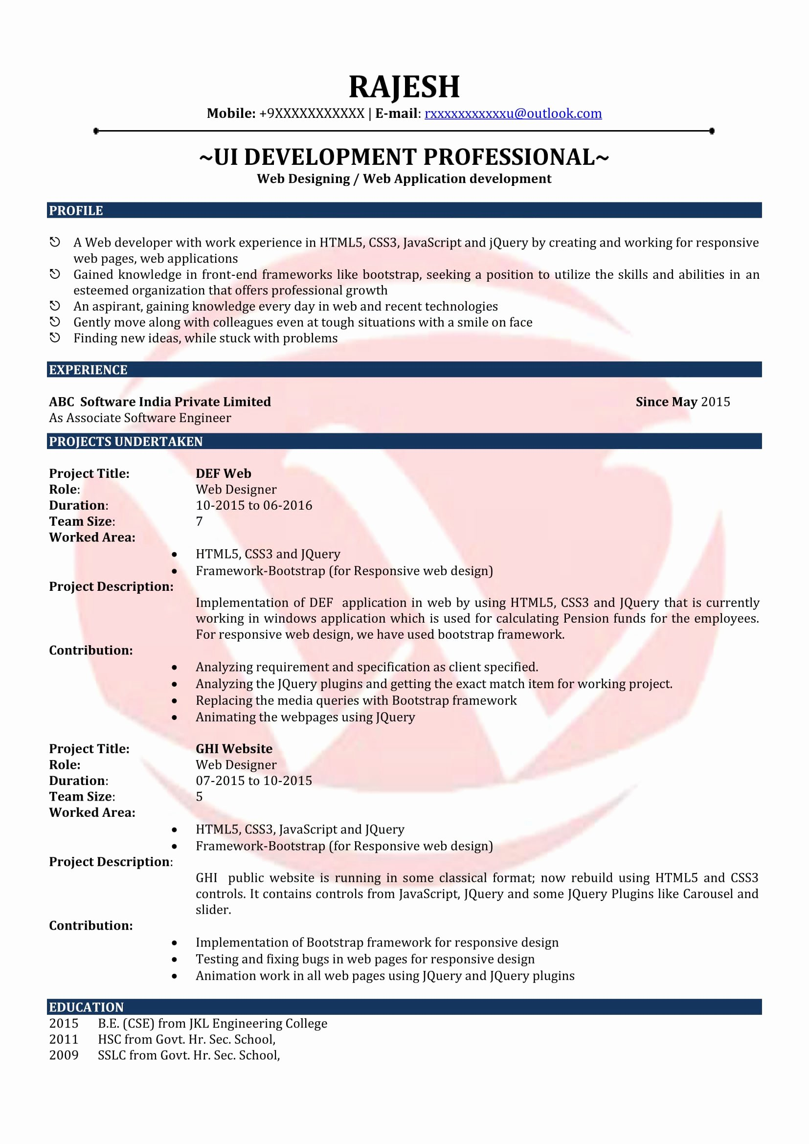 Web Designer Resume Template Elegant Web Designer Sample Resumes Download Resume format Templates
